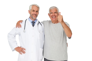 Doctor and Low Vision Patient